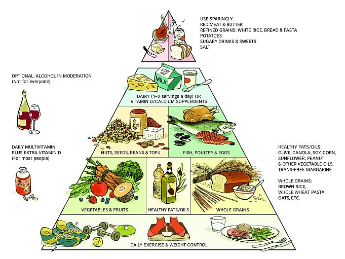Healthy eating pyramid guidelines